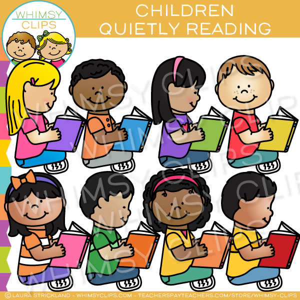 Kids reading clip art , Images & Illustrations.