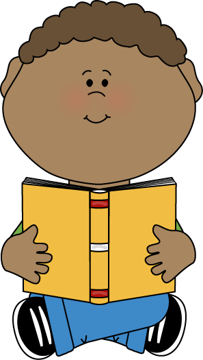 Kid Reading Book Clipart.