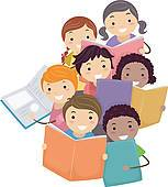Free clipart children reading 2 » Clipart Portal.