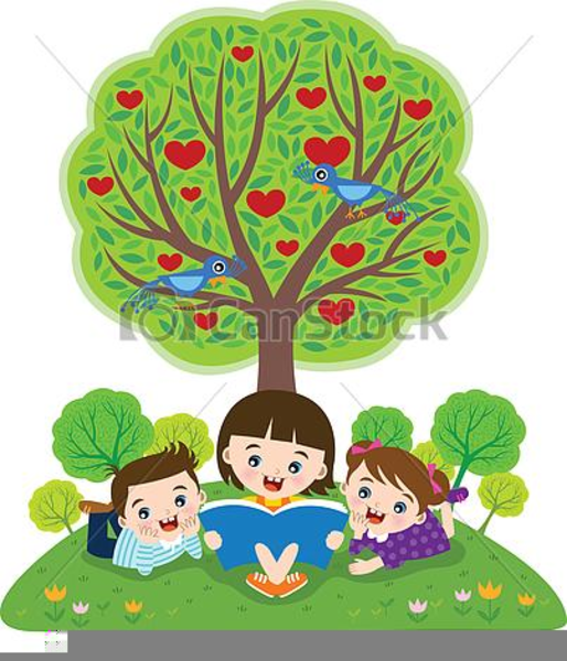 Free Clipart Of Children Reading The Bible.