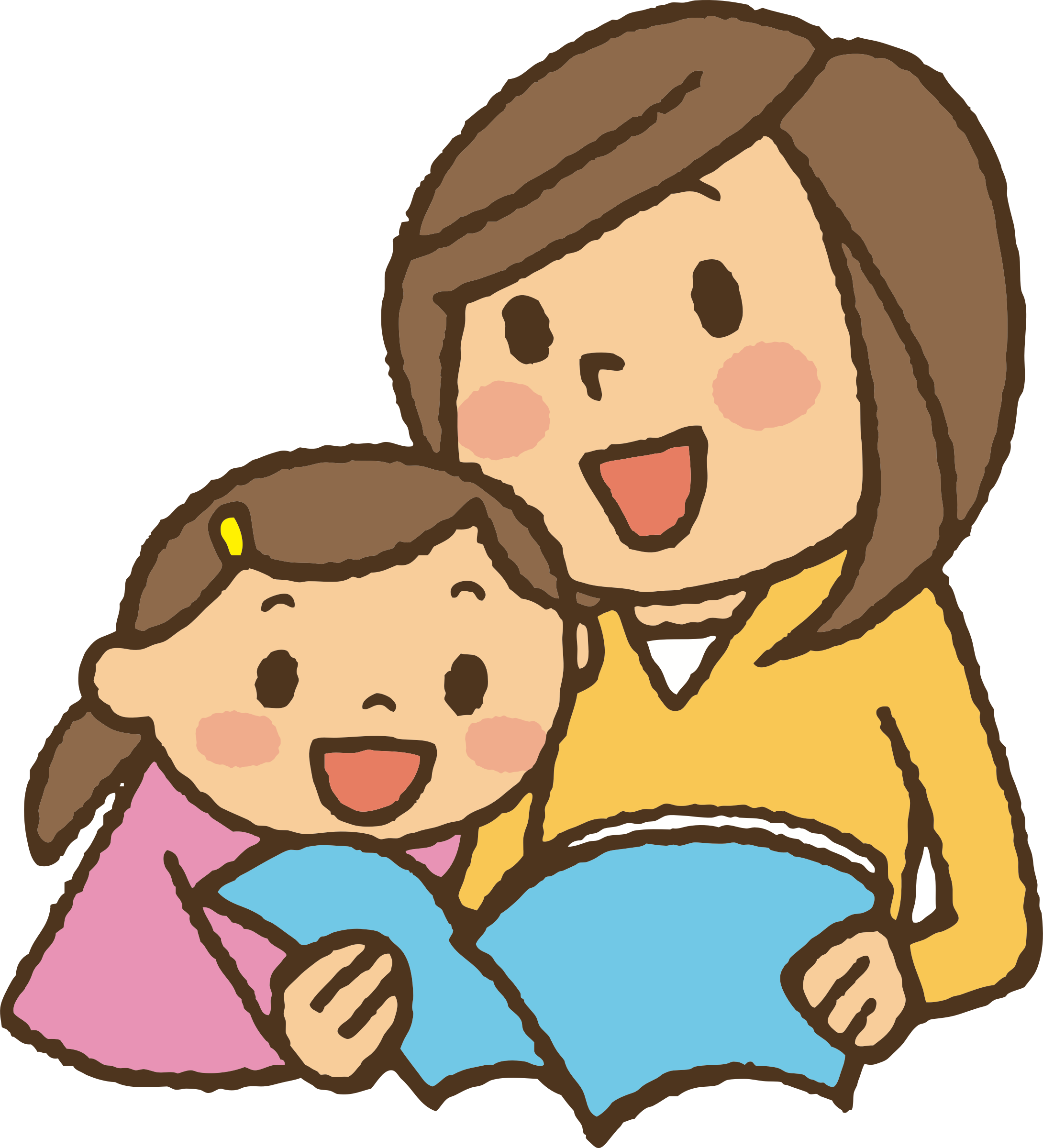 Clipart Reading Together.
