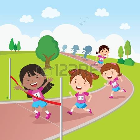 2,018 Kids Running Race Stock Vector Illustration And Royalty Free.