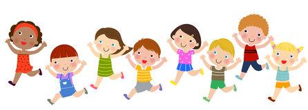 Children's Marathon Race Stock Illustrations.