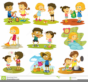 Free Clipart Children Doing Chores.