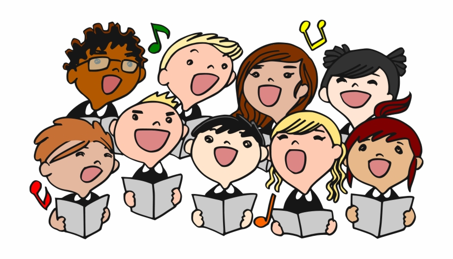 Christmas Choir Singing Clipart.