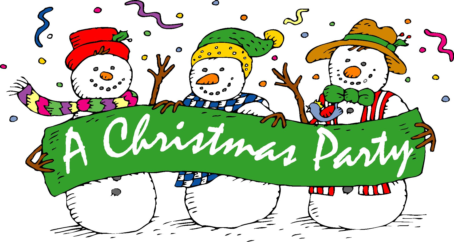 1294 Christmas Party free clipart.