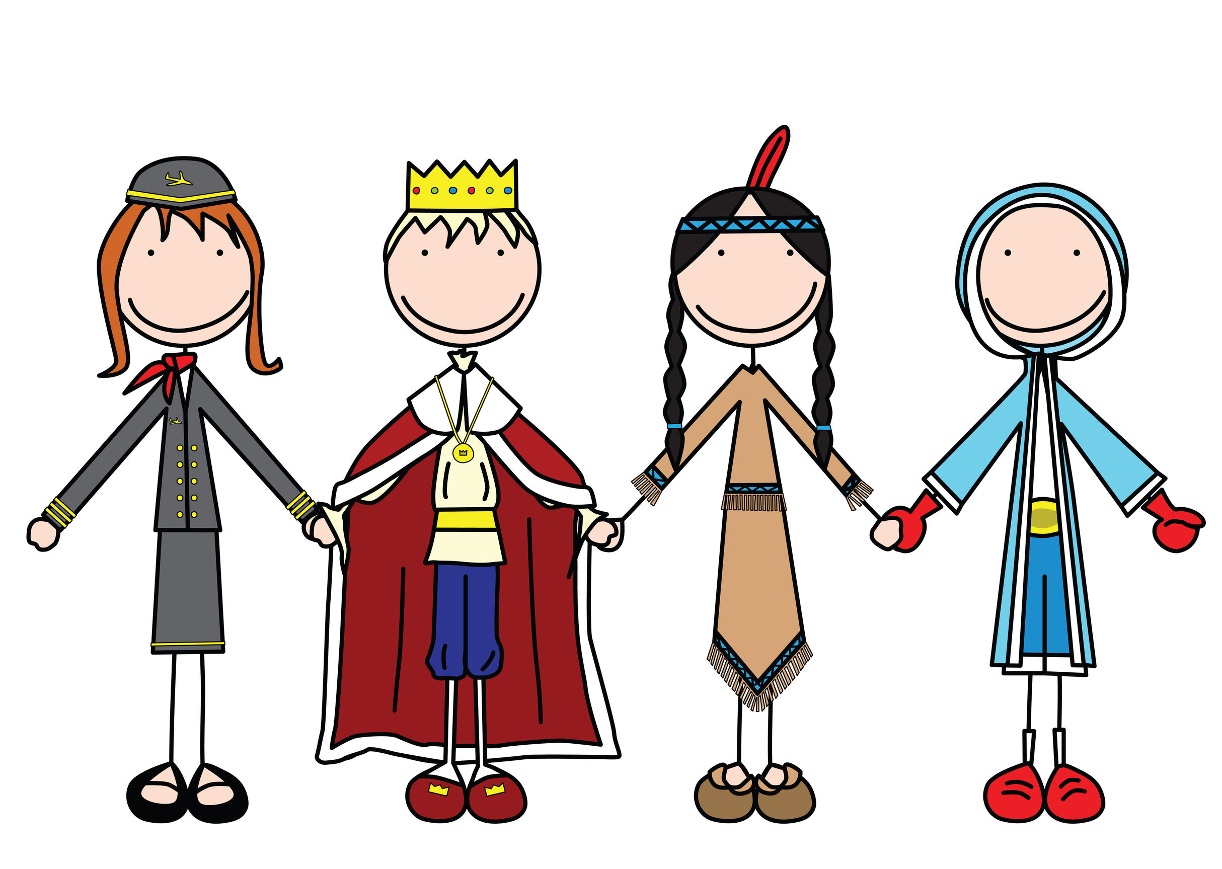 Childrens mid body clipart.