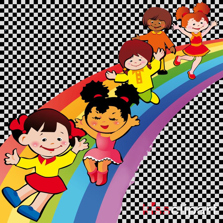 60 Children clipart rainbow for free download on Premium art.