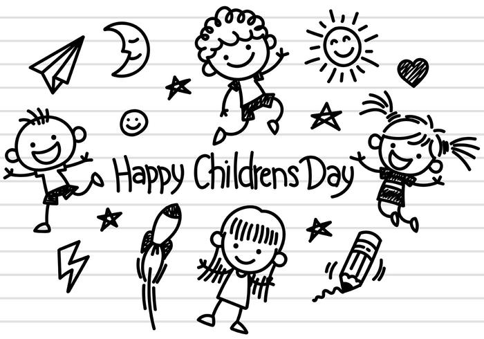 Childrens Day Icons Vector.