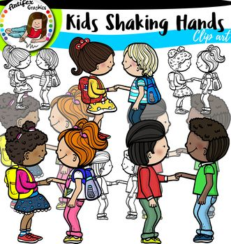 Kids Shaking Hands.