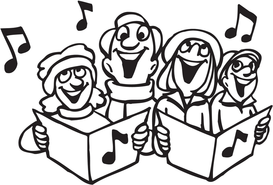 Free Children Singing Clipart Black And White, Download Free.