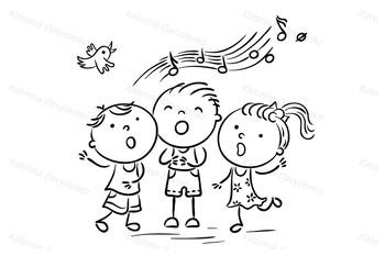Children Singing Songs.