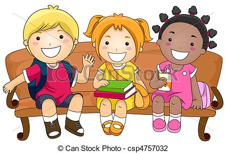 Child Sitting Clipart.