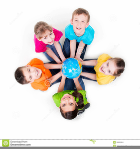 Children Sitting In A Circle Clipart.