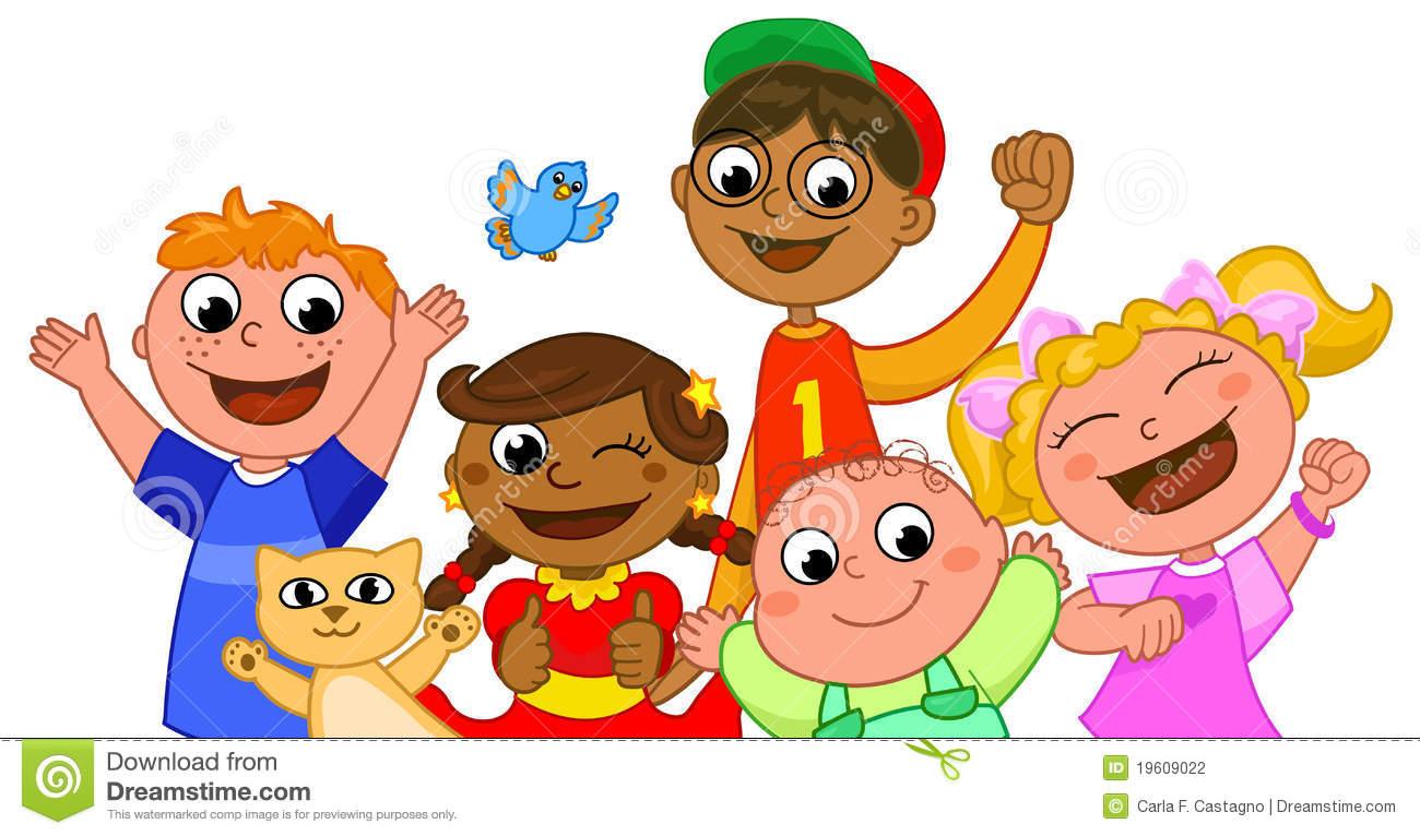 Happy Smiling Children Clipart.