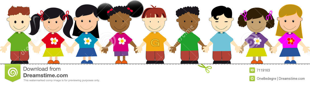 Kids Standing In Line Clipart.