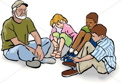 Children Sunday School Break Clipart.