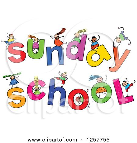 Children Sunday School Volunteer Clipart.