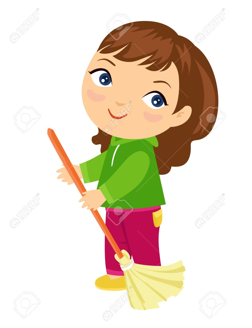 Child sweeping the floor clipart 1 » Clipart Station.