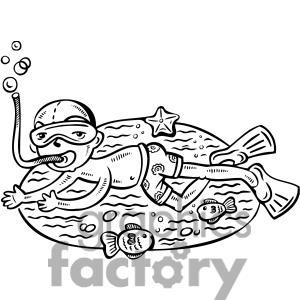 Kid Swimming Clipart Black And White.