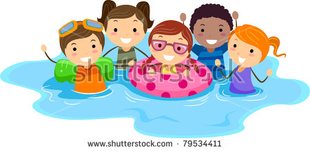Kids Swimming Pool Stock Images, Royalty.