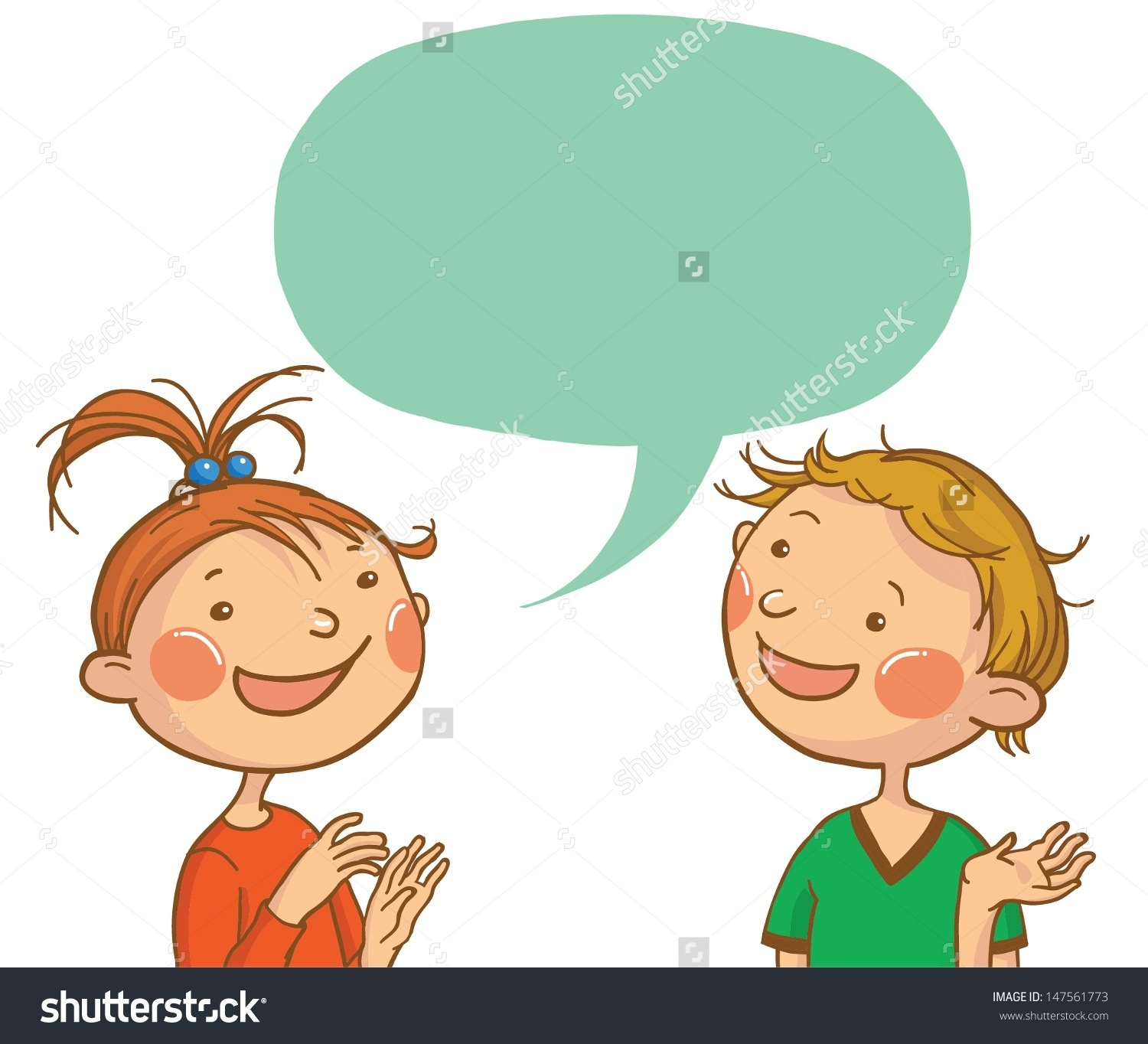 Clipart School Children Talking With Each Other.