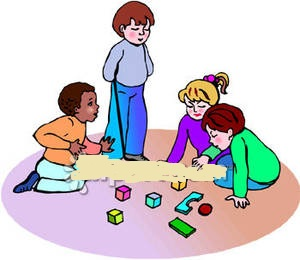 Kids Playing With Toys Clipart.