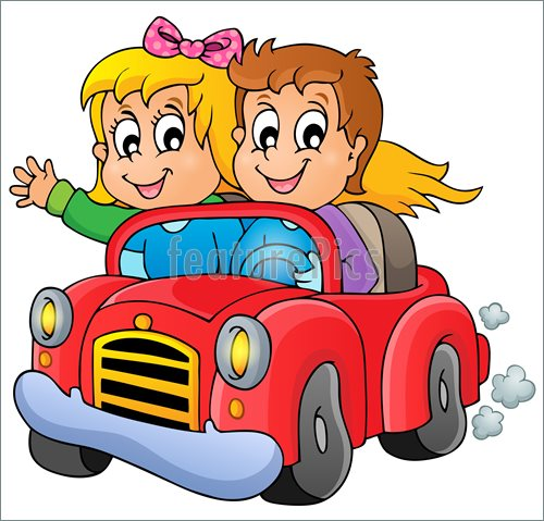 Kids In Car Stock Illustration I3784282 at FeaturePics.