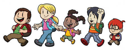 Children Walking Clipart (104+ images in Collection) Page 1.