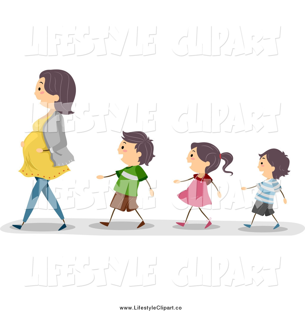 Walking In Line Clipart#1894163.