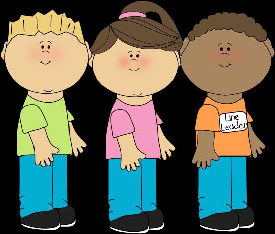 Children In Line Clipart.
