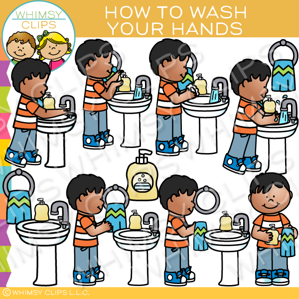 How to Wash Your Hands Clip Art.