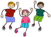 Stock Illustration of Children Jumping k3405155.