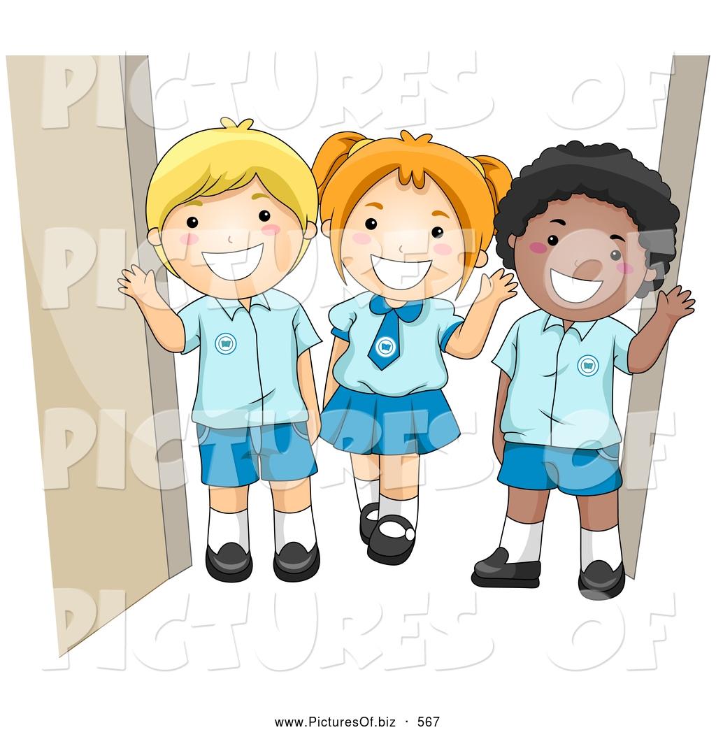 children waving goodbye clipart clipground