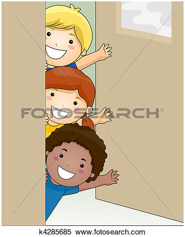 Stock Illustrations of Kids Attending Class k4757040.