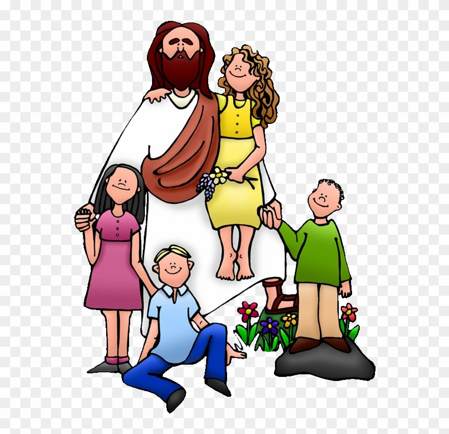 Teaching Of Jesus About Little Children Clip Art.