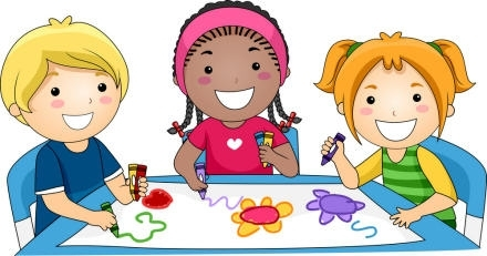 Work With Children Clipart.