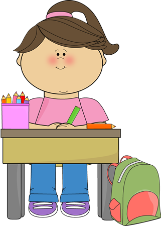 Clipart Of A Student Working At A Desk Clipground