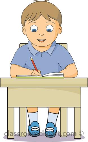 Child Working Clipart.