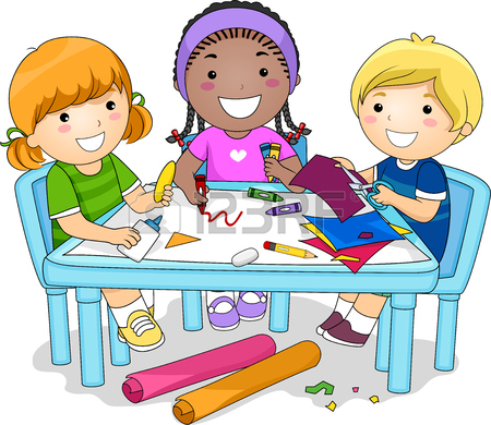 Kids Working Together Clipart.