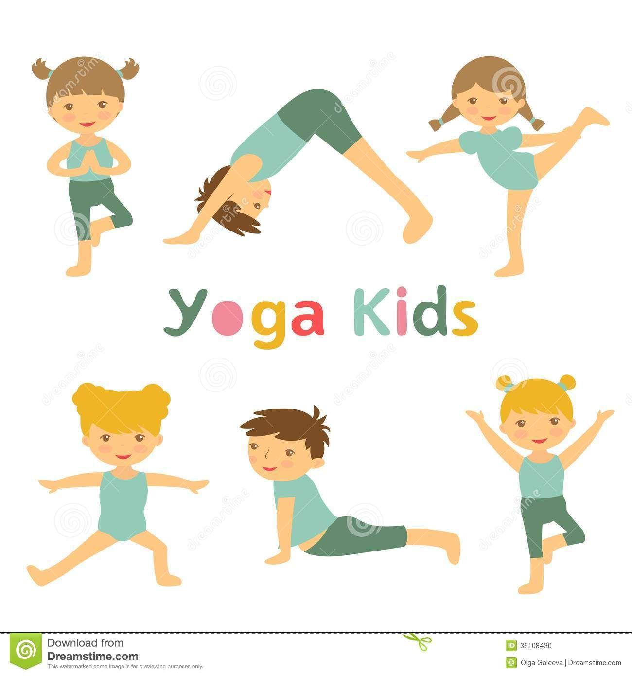Kids Yoga Clipart Kids yoga clipart yoga kids.