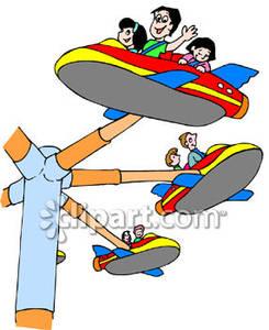 Children's carnival ride clipart #11
