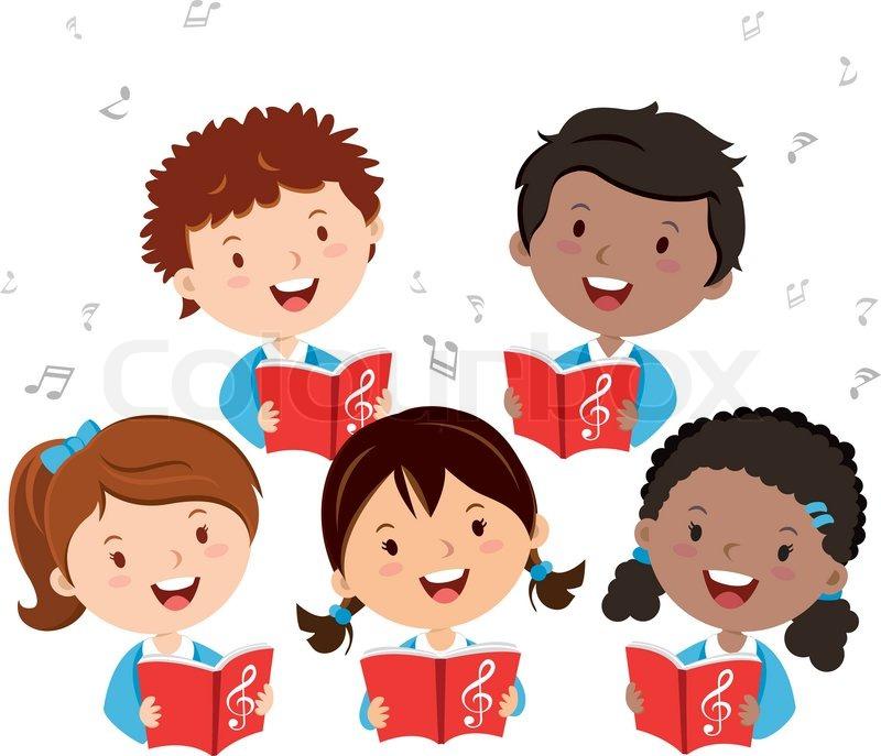 Kids choir singing..