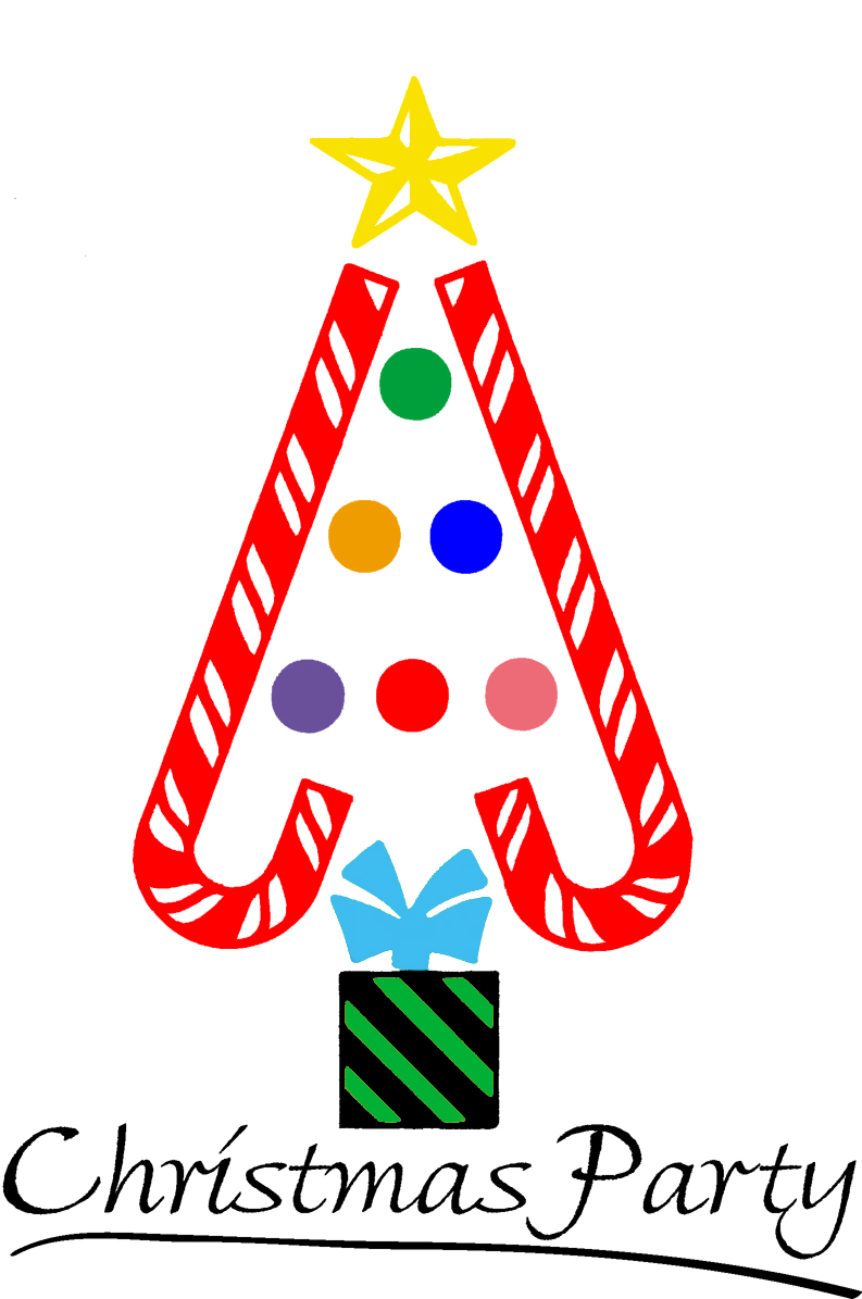 Childrens christmas day party at school clipart.
