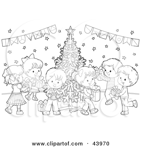 Christmas eve party clipart.
