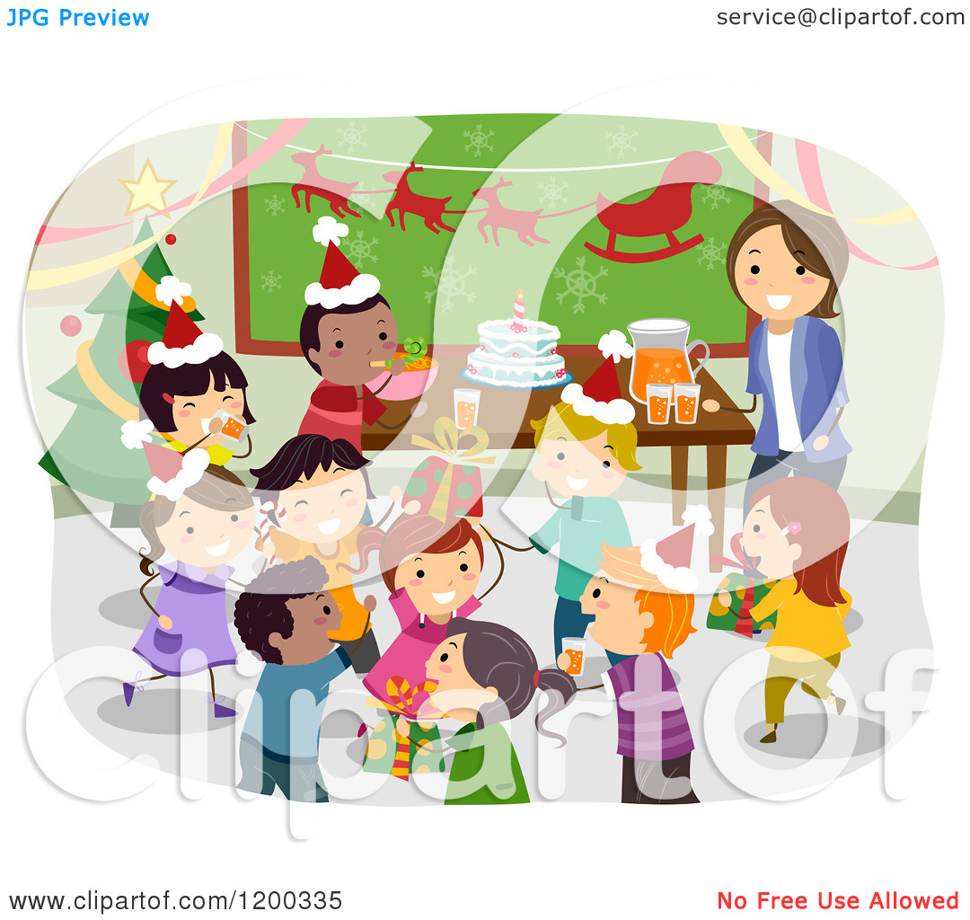 childrens christmas day party clipart - Clipground