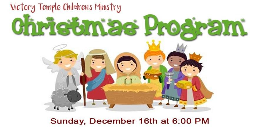 Childrens Christmas Program Homepage Slider.