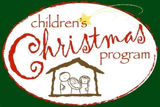 Preschool and Elementary Children's Christmas program.