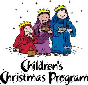 Children's Christmas Program Practice.
