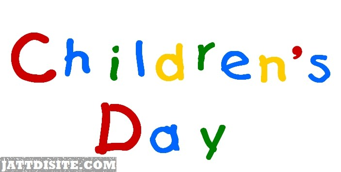 Children day clip art.